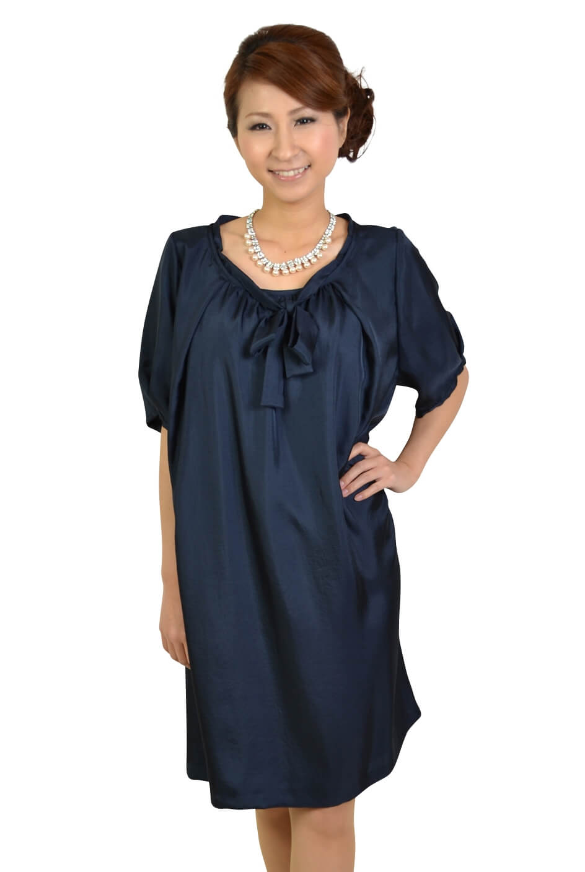 エウルキューブ(eur3)ゆったりネイビーカラードレス
