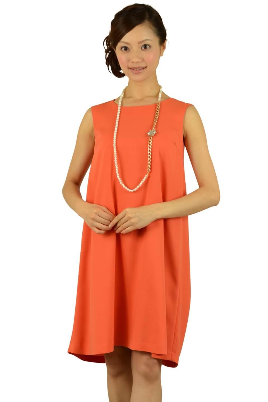 イエナ(IENA)シンプルオレンジドレス