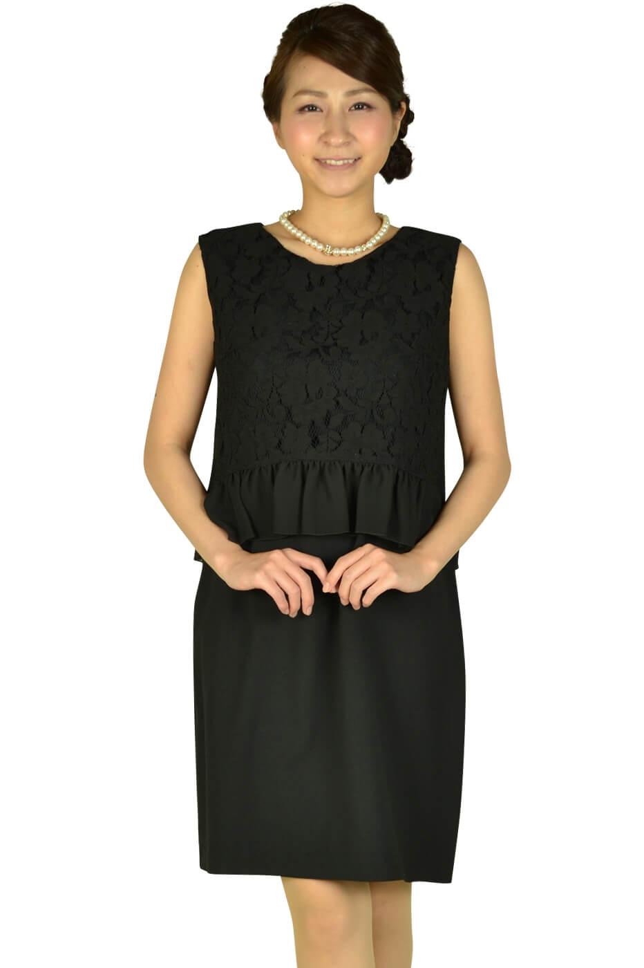エクリュフィル(ecruefil)ブラックレーストップスドレス