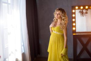 妊娠中期(5ヶ月・6ヶ月・7ヶ月) 結婚式や行事で着るマタニティドレス