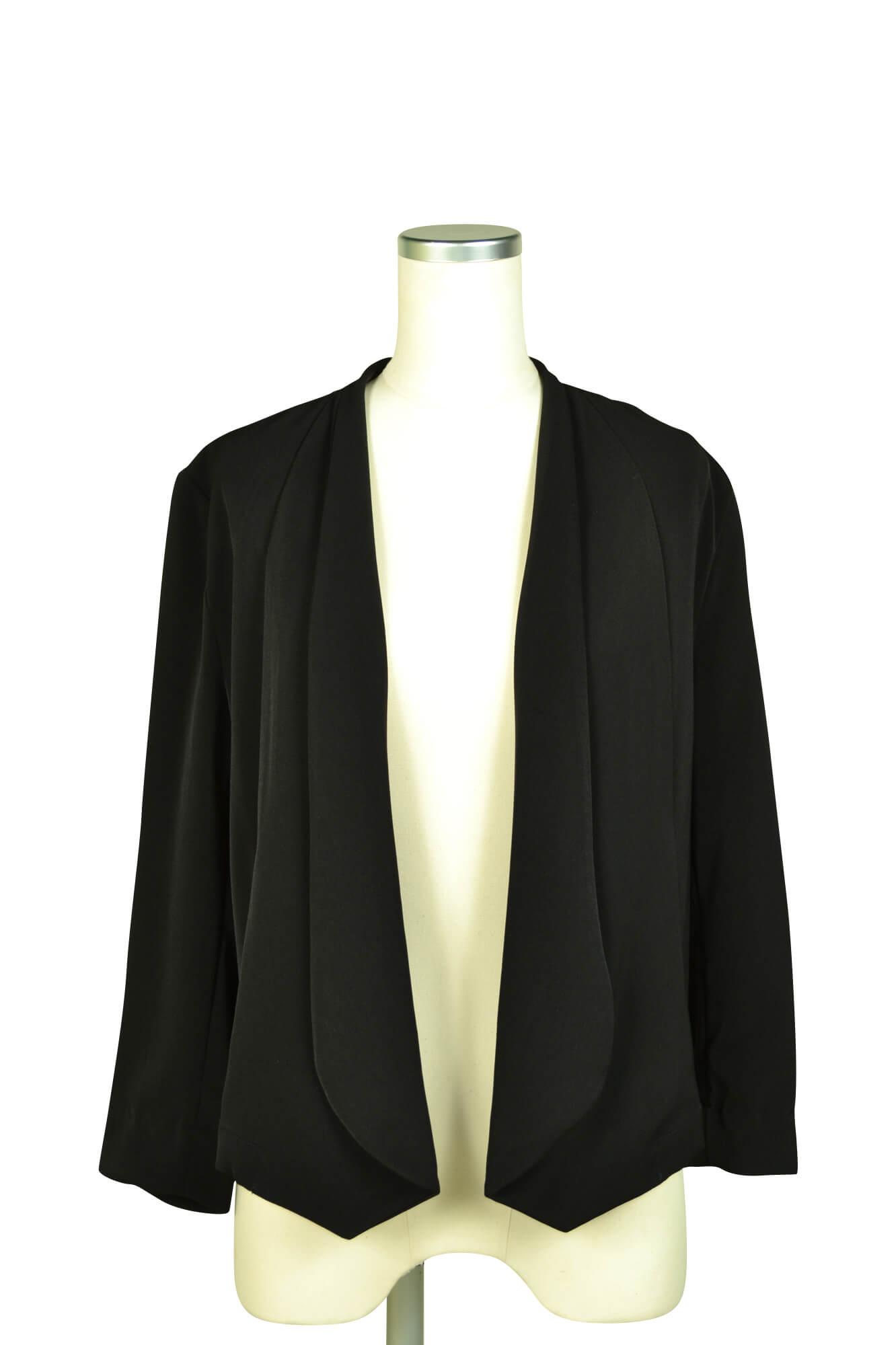 エルモソ(Hermoso)スタイリッシュ8分袖ブラックジャケット