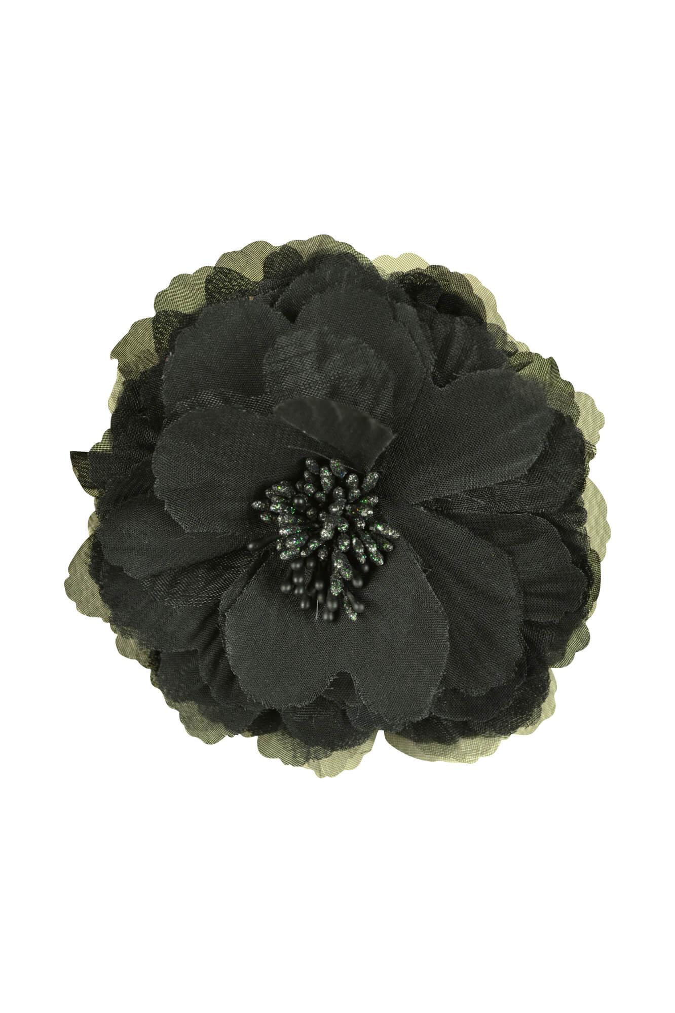 デリセノアール(DELLISE NOIR)ブラックフラワーコサージュ